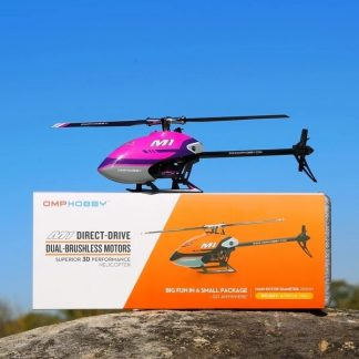OMP M1 RC helicopter with box